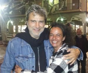 Con Alberto San Juan, el Hombre más guapo del mundo