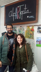 Ana Ceña y su pareja