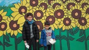 Unos amigos desde el Mural de Almajano