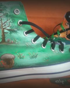 zapatillas pintadas a mano alpartgata 44