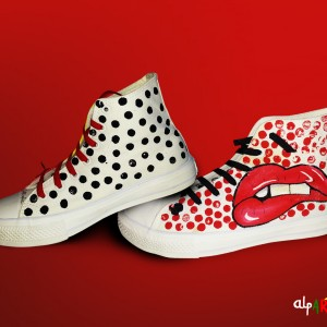 Lichtenstein 1 zapatillas pintadas a mano