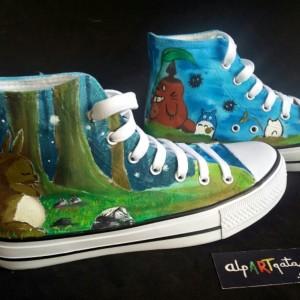 Zapatillas-personalizadas-pintadas-alpartgata-Totoro (6)