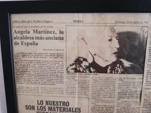 Angela Martinez Alcaldesa más Anciana de ESpaña